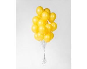 Zestaw żółtych balonów z helem