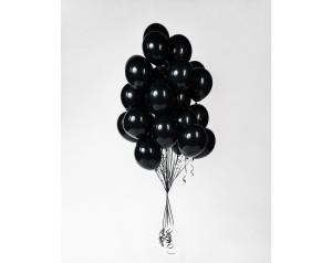 Zestaw czarnych balonów z...