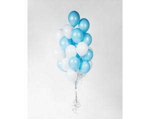 Zestaw balonów błękitno-...