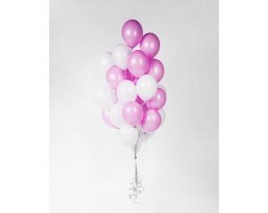 Zestaw balonów biało -...