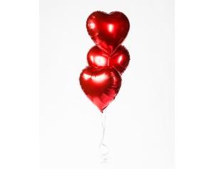 Zestaw 3 serc gigantów z helem