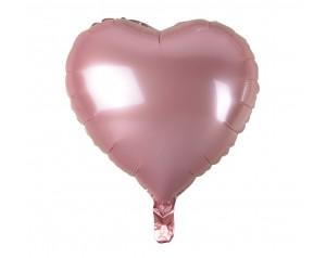 Jasnoróżowe Serce z helem