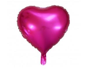 Ciemnoróżowe Serce z helem
