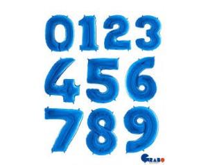 Niebieskie cyferki z helem