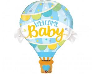 Balon niebieski Welcome...