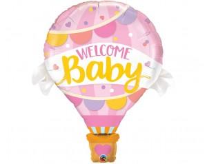 Balon różowy Welcome Baby z...