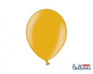 Balon złoty lateksowy z helem
