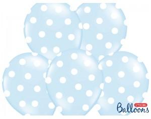 Balon błękitny w białe...