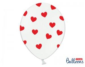 Balon biały w czerwone...