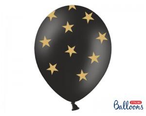 Balon czarny w złote...
