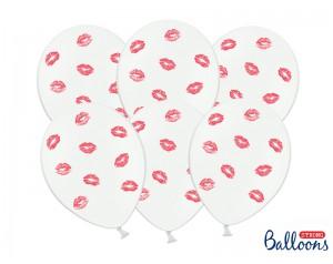 Balon biały w czerwone usta...
