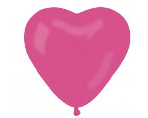 Balon serce fuksja...