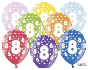 Balon z cyferką 8 lateksowy...