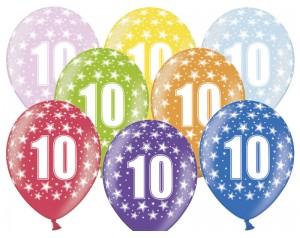 Balon z cyferką 10...