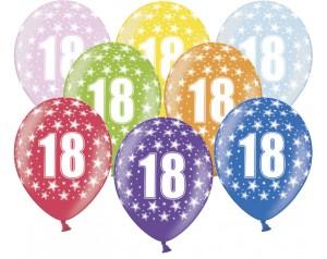Balon z cyferką 18...
