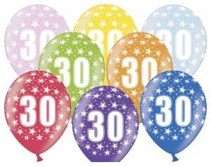 Balon z cyferką 30...