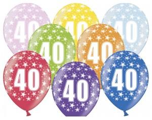 Balon z cyferką 40...