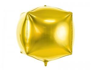 Złoty sześcian z helem