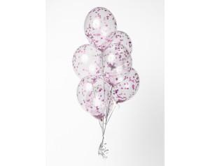 Zestaw różowe konfetti