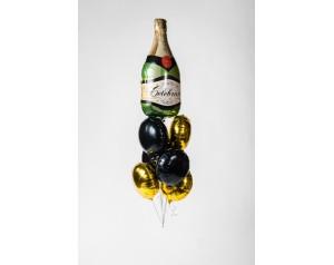 Zestaw szampan zielony z helem