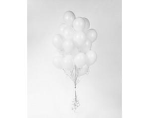 Zestaw białych balonów z helem