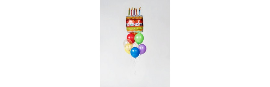 Balony na urodziny tort balony życzenia urodzinowe niespodzianka