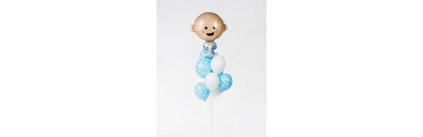 Balony na narodziny dziecka wózek uśmiech rodzice dostawa balonów