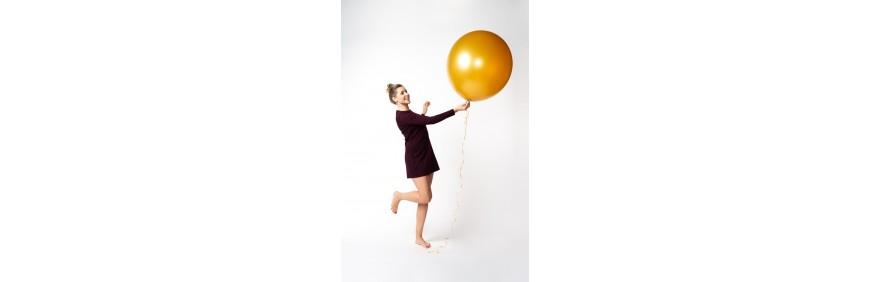 Balony lateksowe, metrowe napełnione helem